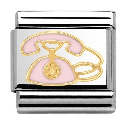 Maillon Nomination classic téléphone rose