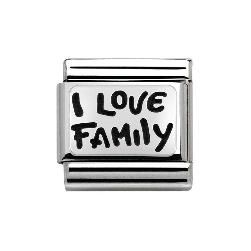 Maillon Nomination classic Argent I love Family