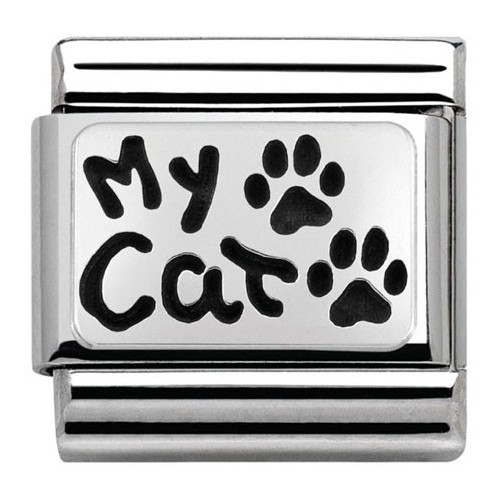 Maillon Nomination classic Argent My Cat