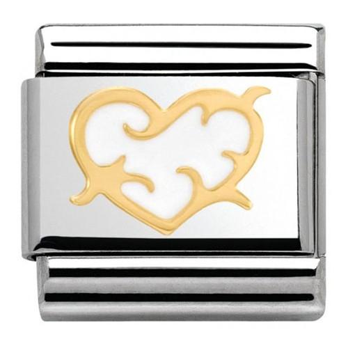 Maillon Nomination classic coeur stylisé