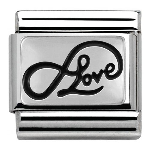 Maillon Nomination classic Argent Love infini