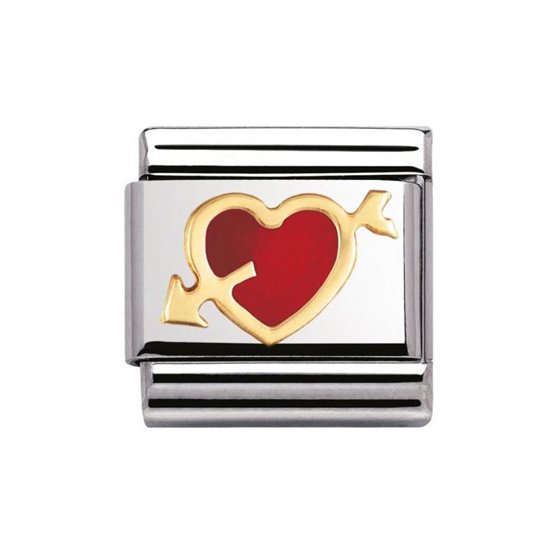 Maillon Nomination classic coeur avec flèche