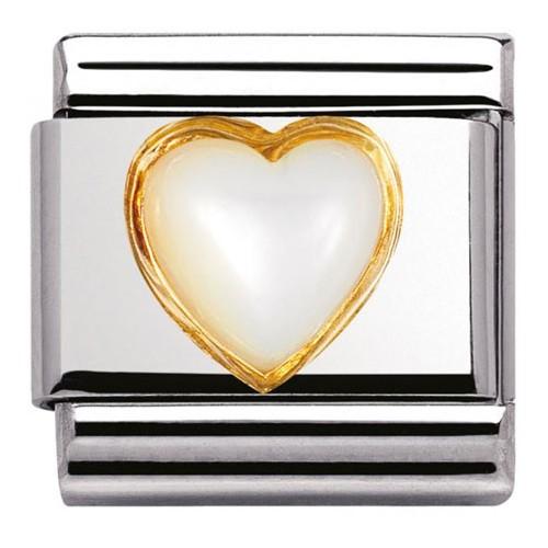 Maillon Nomination classic coeur blanc