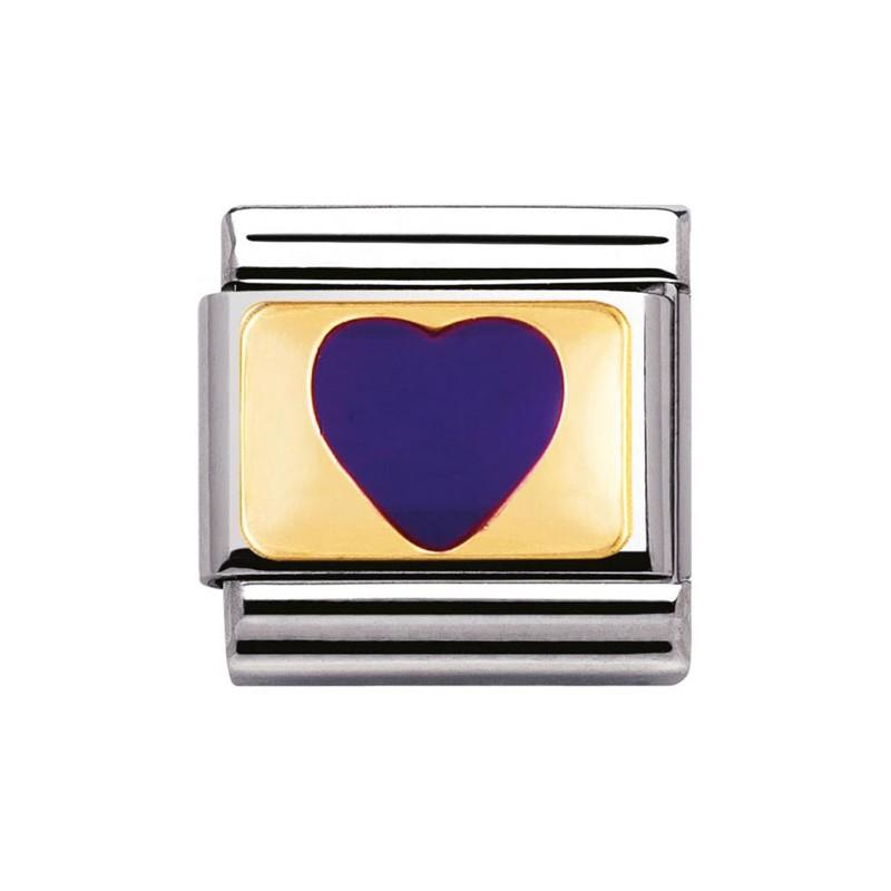 Maillon Nomination classic coeur violet