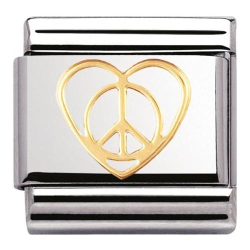 Maillon Nomination classic paix et coeur