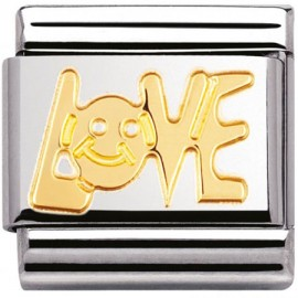 Maillon Nomination Love en Or - 030107-06