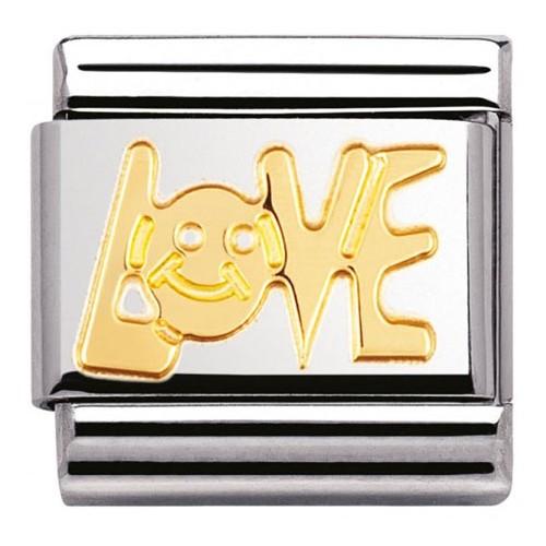 Maillon Nomination classic Love en Or