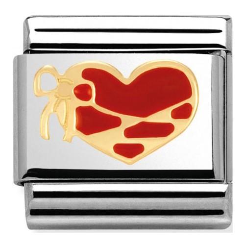 Maillon Nomination classic coeur rouge