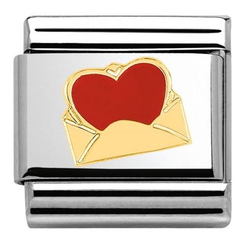 Maillon Nomination classic enveloppe et coeur
