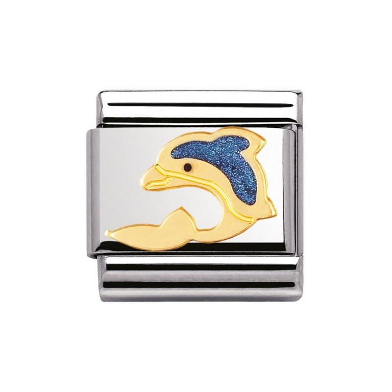 Maillon Nomination classic dauphin bleu