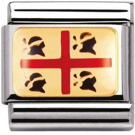 Maillon Nomination classic drapeau de la Sardaigne en relief
