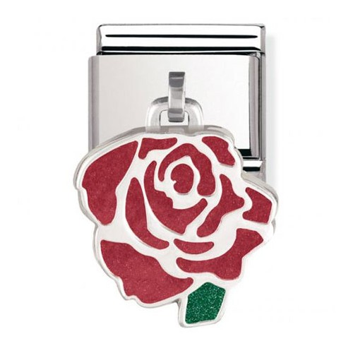 Maillon Nomination classic charms rose rouge
