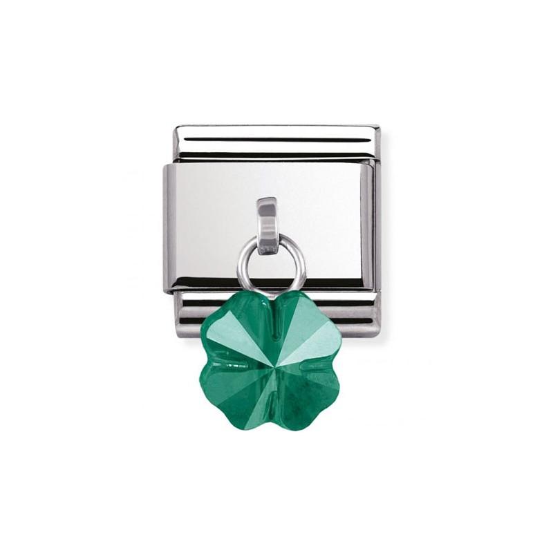 Maillon Nomination classic charms fleur verte