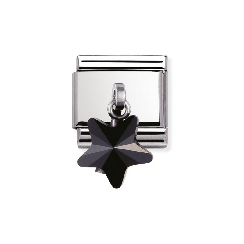 Maillon Nomination classic charms étoile noire