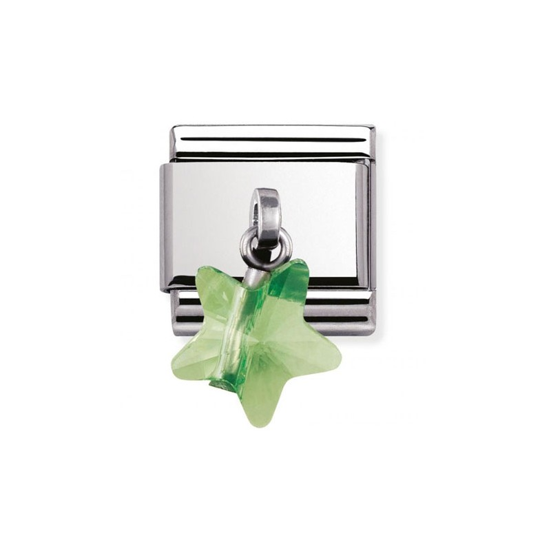 Maillon Nomination classic charms étoile verte
