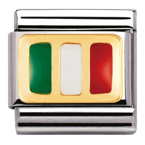 Maillon Nomination classic drapeau italien
