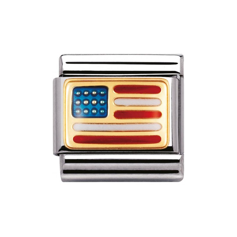 Maillon Nomination classic drapeau USA