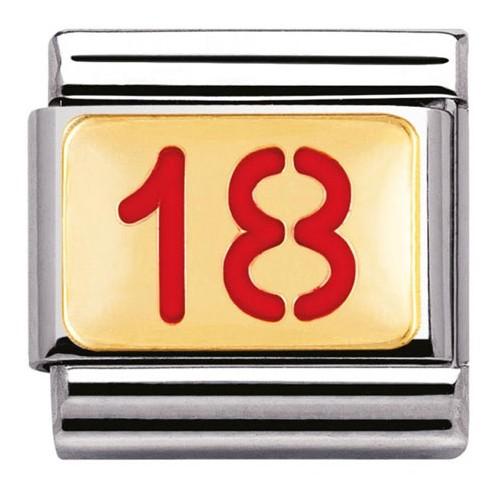 Maillon Nomination classic chiffre 18