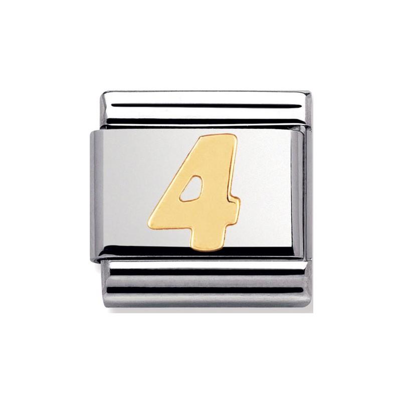 Maillon Nomination classic chiffre 4 en Or