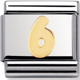 Maillon Nomination classic chiffre 6 en Or