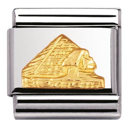 Maillon Nomination classic pyramide en relief