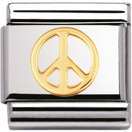 Maillon Nomination classic Peace en Or