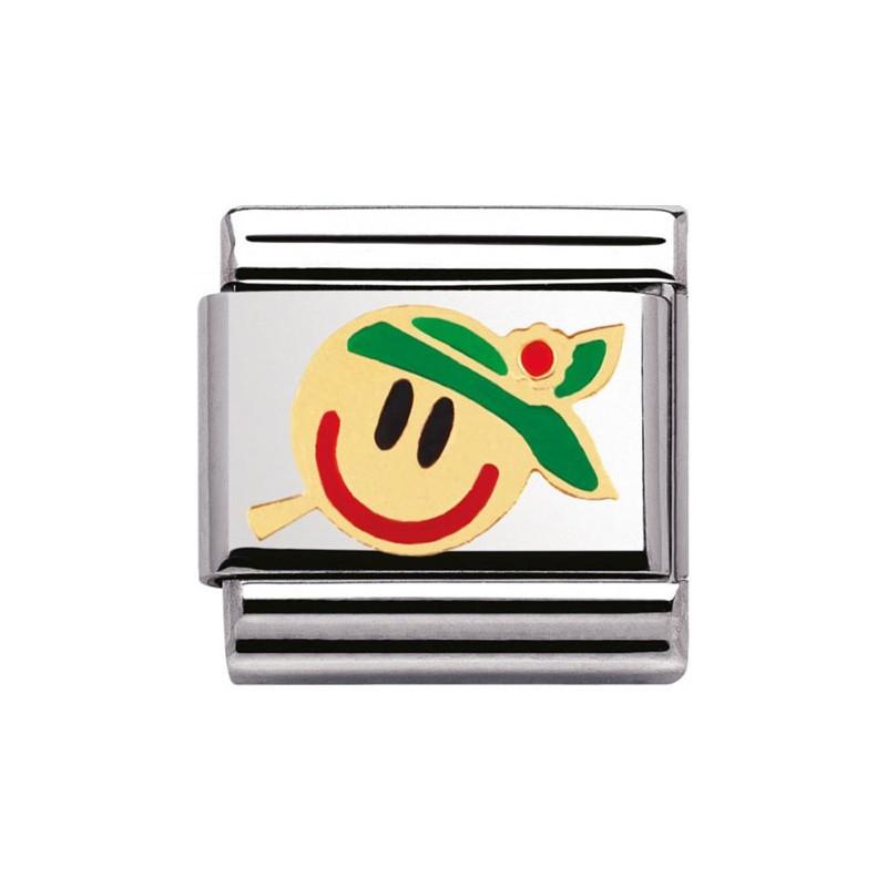Maillon Nomination classic smiley coloré