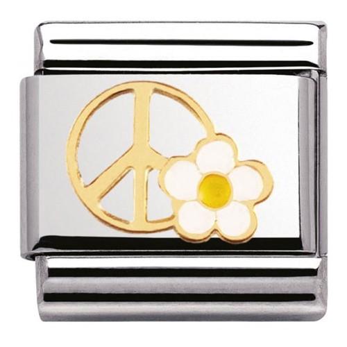 Maillon Nomination classic paix et fleur