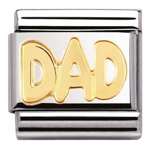 Maillon Nomination classic dad en Or