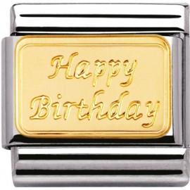 Maillon Nomination classic Happy Birthday