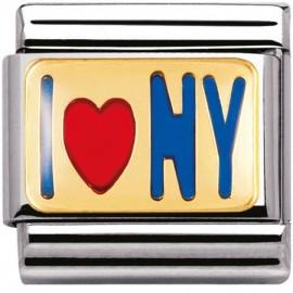 Maillon Nomination classic i love New York