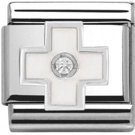 Nomination croix blanche en Argent