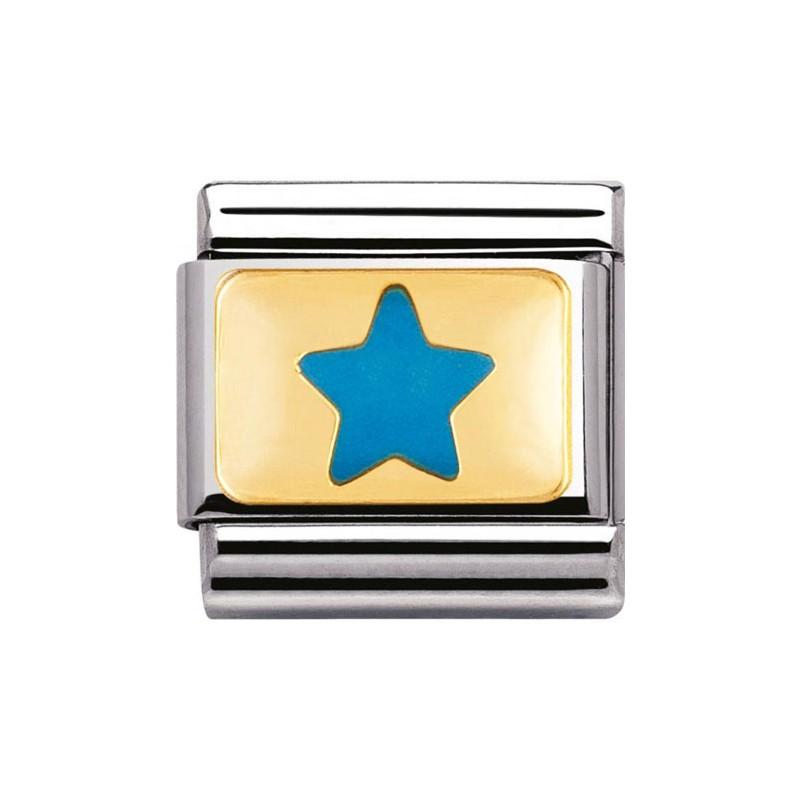 Mailllon Nomination classic étoile bleu ciel