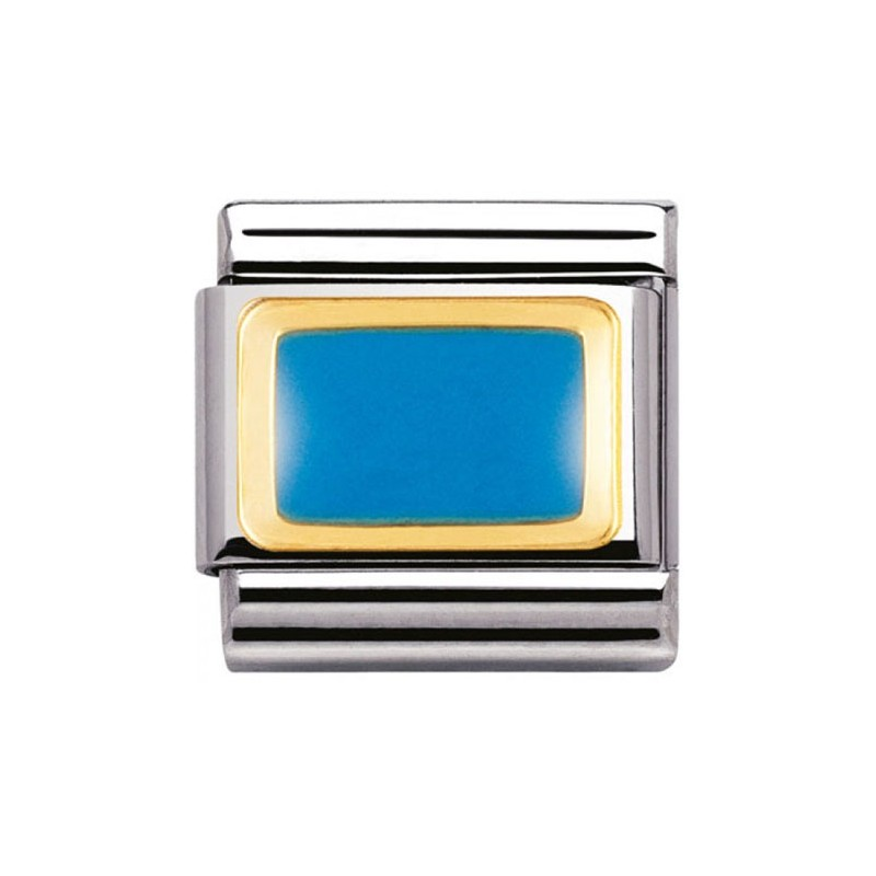 Mailllon Nomination classic rectangle bleu