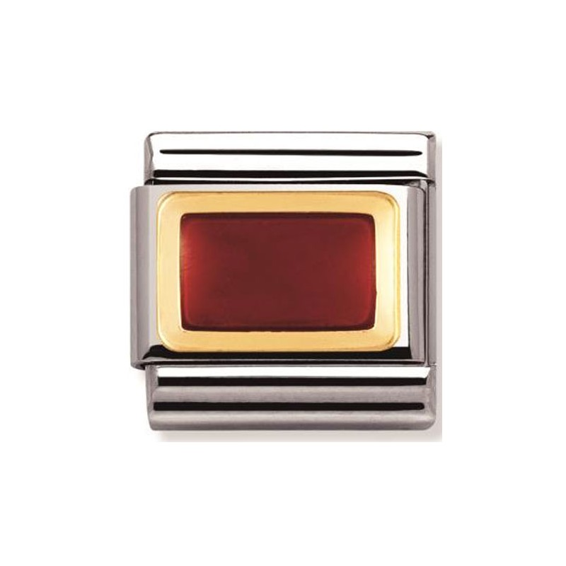 Mailllon Nomination classic rectangle rouge