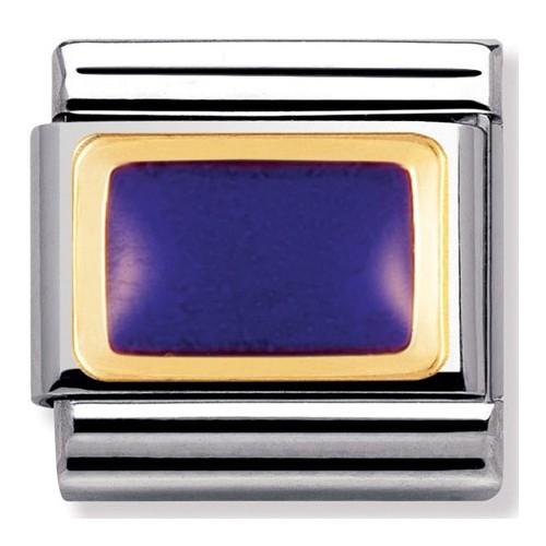 Maillon Nomination classic rectangle violet