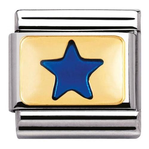 Maillon Nomination classic étoile bleue