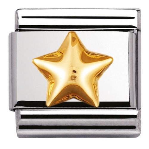 Maillon Nomination classic étoile bombée en Or