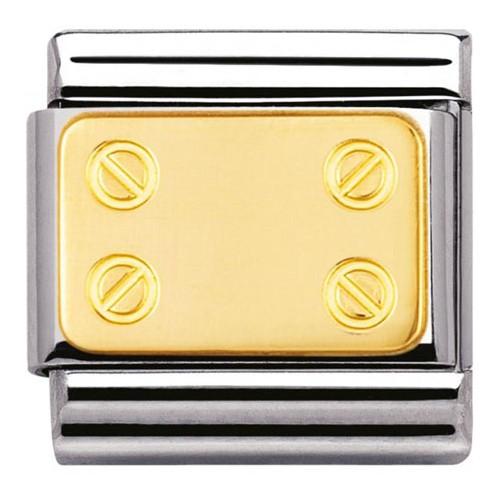 Maillon Nomination classic plaque motif vis