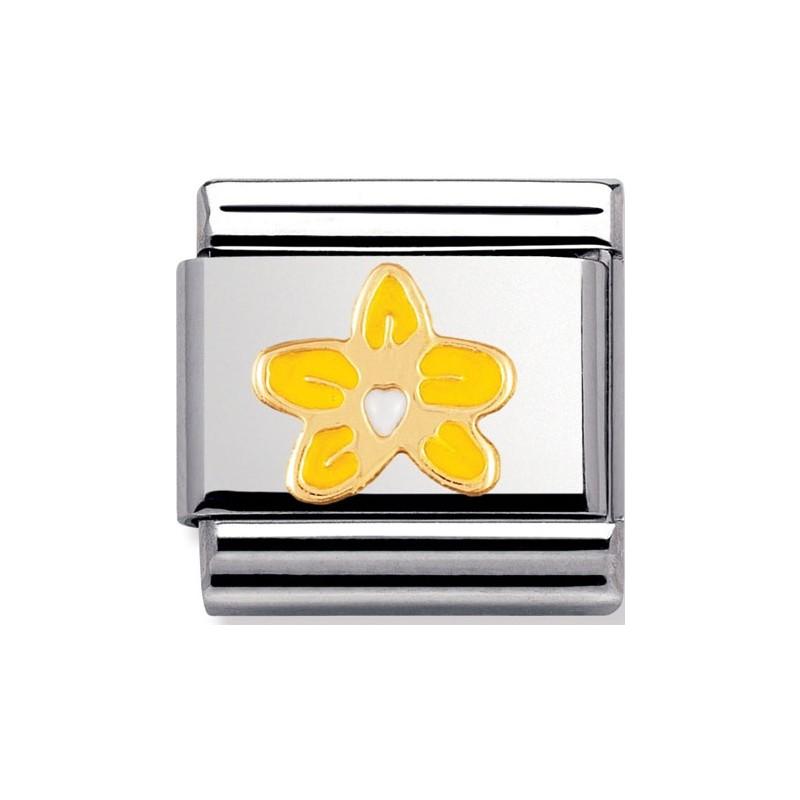 Maillon Nomination classic fleur orchidée