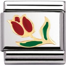 Maillon Nomination classic tulipe