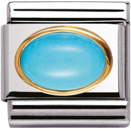 Maillon Nomination classic turquoise ovale