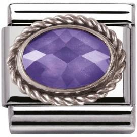 Maillon Nomination classic facetée violette