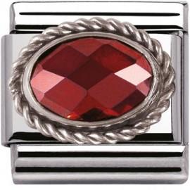 Maillon Nomination classic facetée rouge