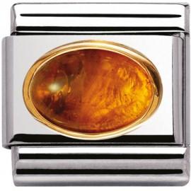 Maillon Nomination classic ambre ovale