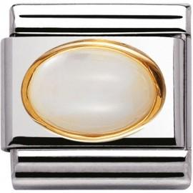 Maillon Nomination classic pierre blanche