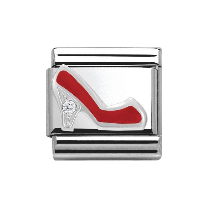 Maillon Nomination classic talon rouge en Argent