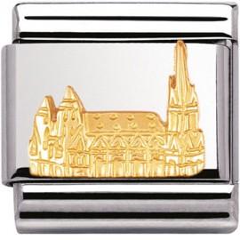 Maillon Nomination classic Cathédrale de vienne en relief
