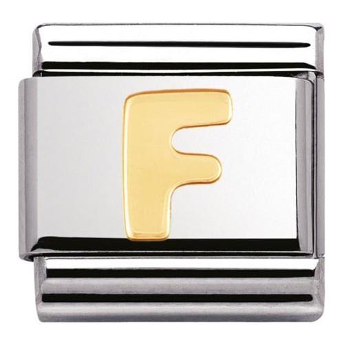 Maillon Nomination classic Lettre F standard Or