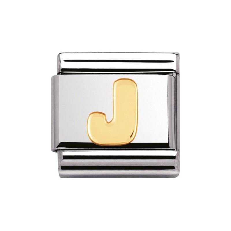 Maillon Nomination classic Lettre J standard Or